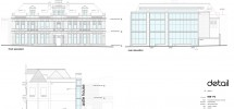 Front, Read and Side Elevation Plans